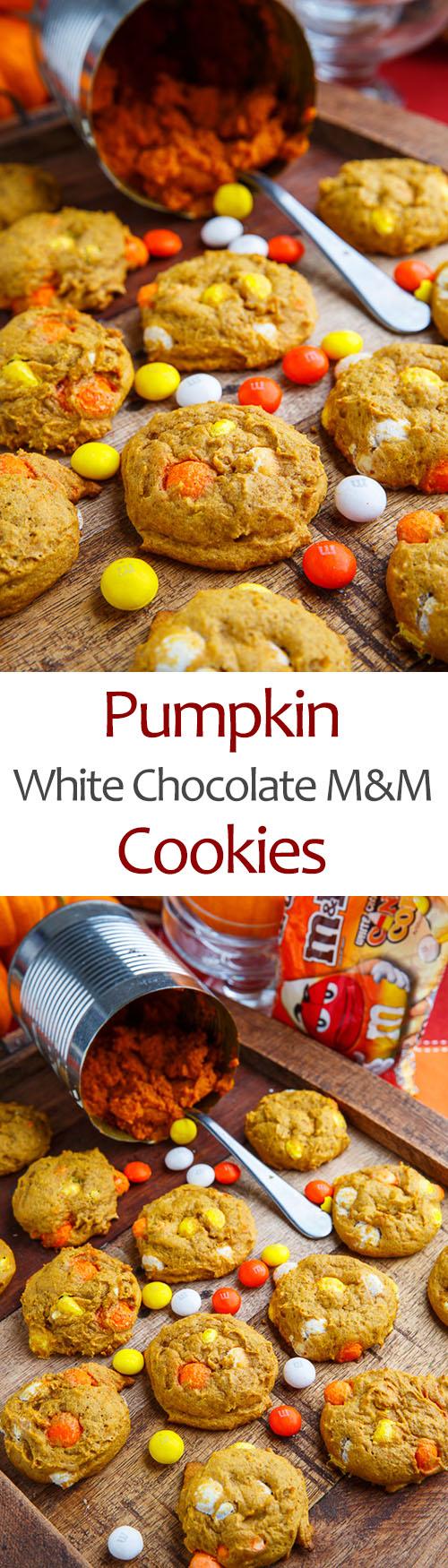 Pumpkin White Chocolate M&M Cookies