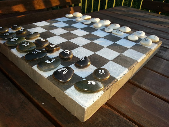 My Diy Outdoor Chess Checkers Board Game