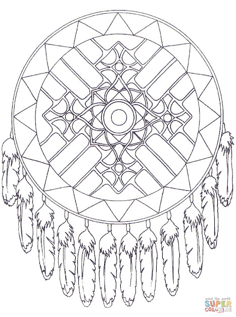 Mandala Coloring Pages Games With Native American Pages