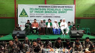 Istighotsah Kubro Digelar Dalam Pelantikan Ansor Bandung Barat