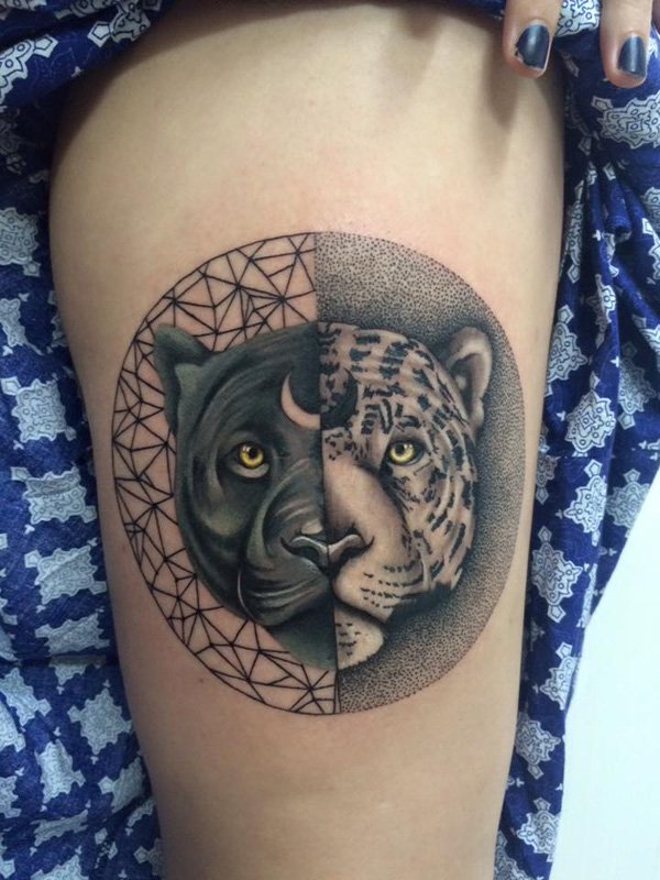 tatuajes de yin yang para mujeres