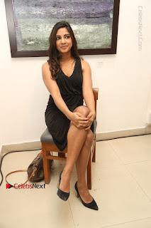Telugu Actress Kamna Singh Stills in Black Dress at Bharat Thakur Art Exhibition Launch  0138.jpg