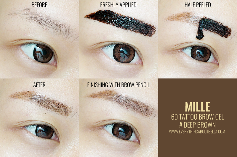 beauty blogger indonesia - mille beaute eyebrow tattoo