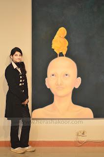 syeda hera shakoor self portrait exhibition preparation PNCA islamabad pakistan
