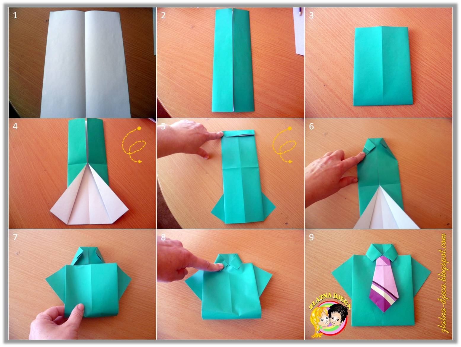 How To Make A Paper T Shirt Origami