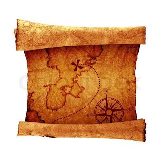 Papel velho, mapa do tesouro