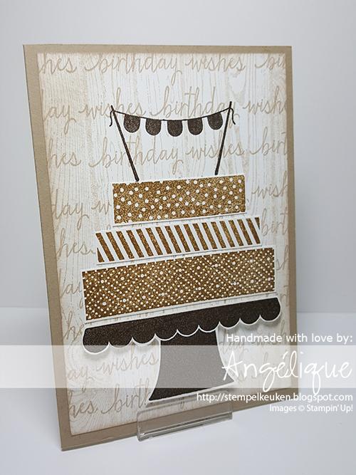 #birthday #stampinup #BuildaBirthday #Hardwood #CrumbCakeNoteCards #CrumbCake #SoftSuede #EarlyEspresso #Sponges #WhisperWhiteThickCardstock #Stempelkeuken Meer info en voor het bestellen van Stampin' Up! producten mail naar stempelkeuken@gmail.com