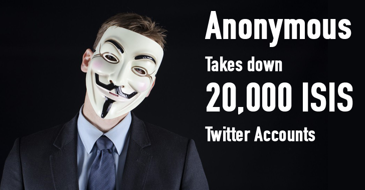 Anonymous Hacking Group Takes Down 20,000 ISIS Twitter accounts