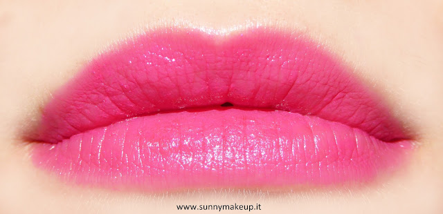 Swatch sulle labbra. Pupa - I'm Lipstick Limited Edition. 412 Rose Couture.