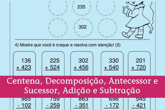 Avaliação de Matemática para 3º Ano Fundamental.