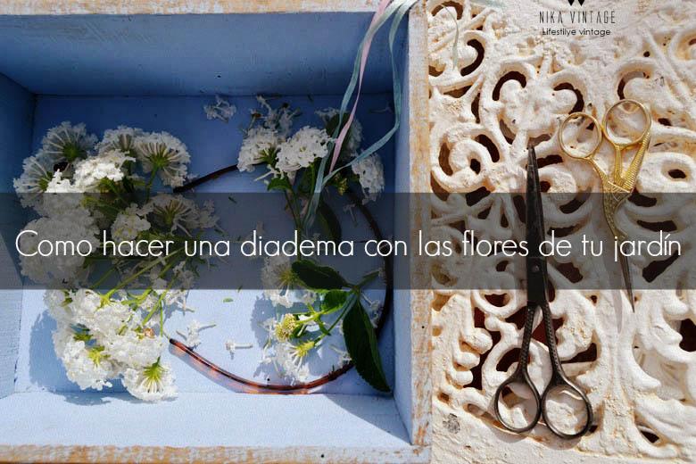 diadema de flores, adorno floral, diy, diadema romántica, hazlo tu mismo, Frida Khalo, diadema flores blancas
