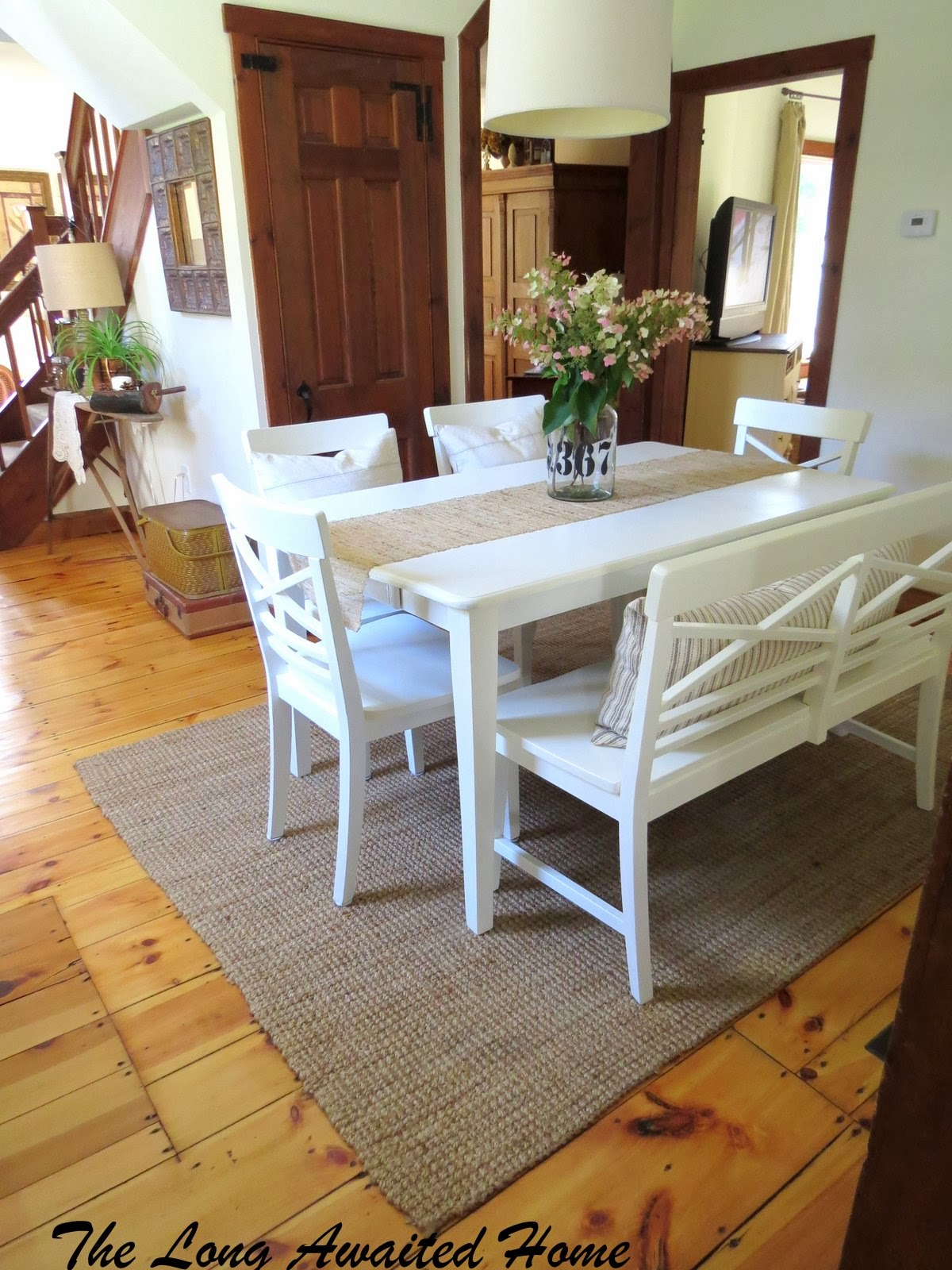 kitchen table with bench and chairs beautiful rustic kitchen