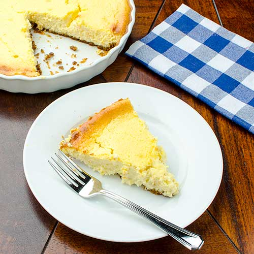 Italian Ricotta and Cream Cheese Pie