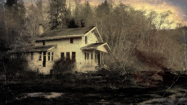 An abandoned home near Jordan River on Vancouver Island...