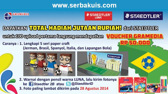Kontes Papercraft Berhadiah Voucher Gramedia Total 8 JUTA