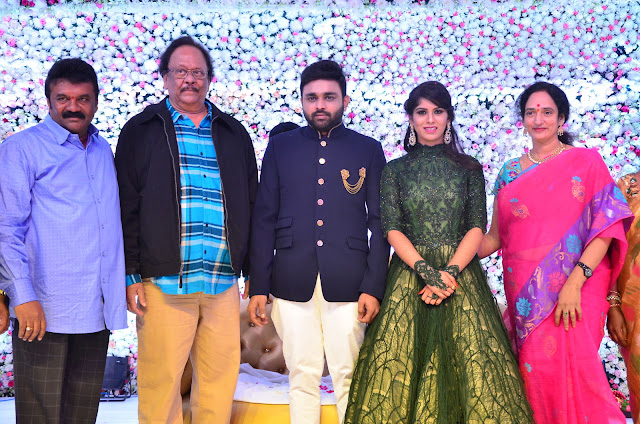 talasani srinivas yadav daughter reception photos