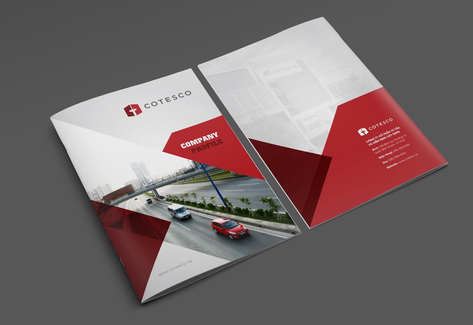 In profile công ty đẹp, hồ sơ năng lực, sách giới thiệu công ty Cotesco