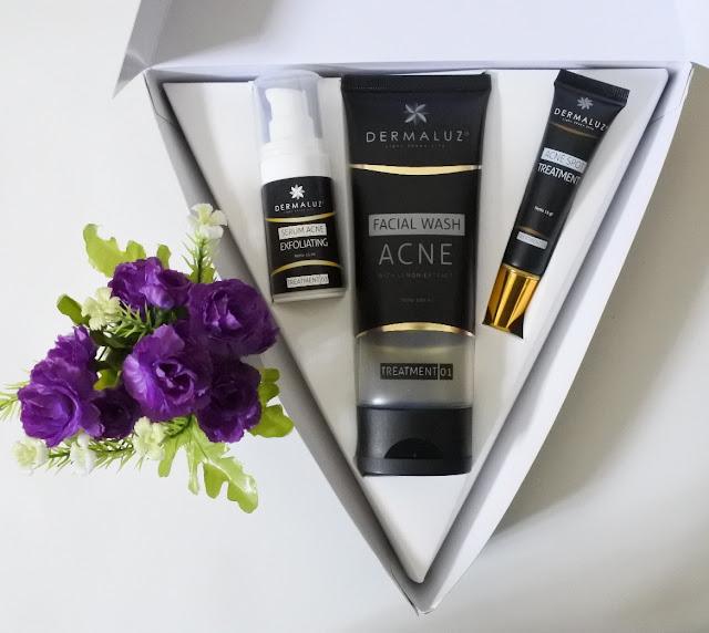 Review Dermaluz Acne Series Package