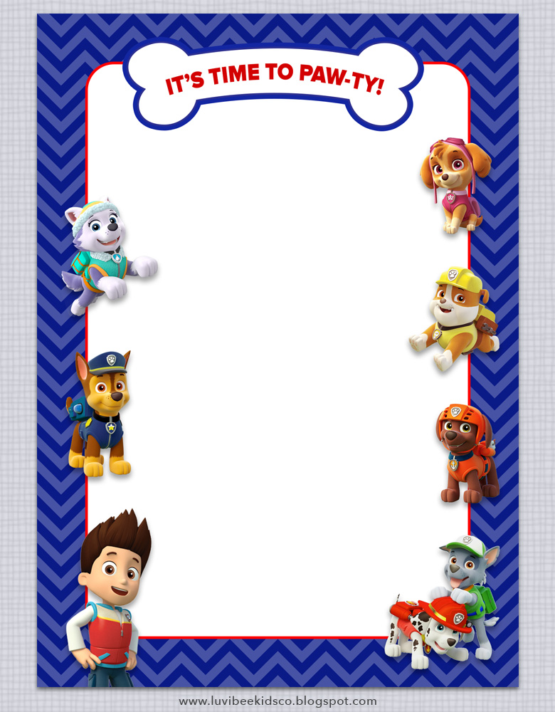 Paw patrol birthday invitations free printables luvibee kids co today i have a new free printable for you as well as a look into some of the adorable invitation designs available in my shop filmwisefo