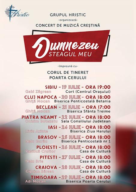 """Turneu Hristic 19-29 Iulie """"Dumnezeu Steagul Meu"""""""