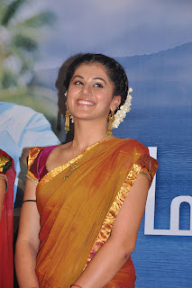 Taapsee Pannu Latest Pictures in Half Saree at Maranthen Mannithen Tamil Movie Audio Launch