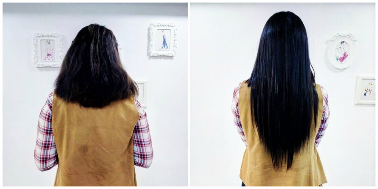 Extensiones de clip antes y despues de adelgazar