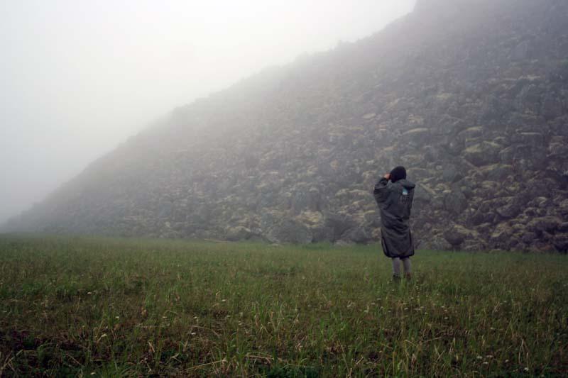 Туман у юрты геологов на Кетачане Камчатка