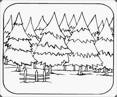 Ausmalbilder Wald Zum Ausdrucken