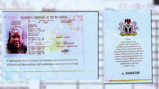Passport of General Buratai's second wife Photo Credit: Sahara Reporters