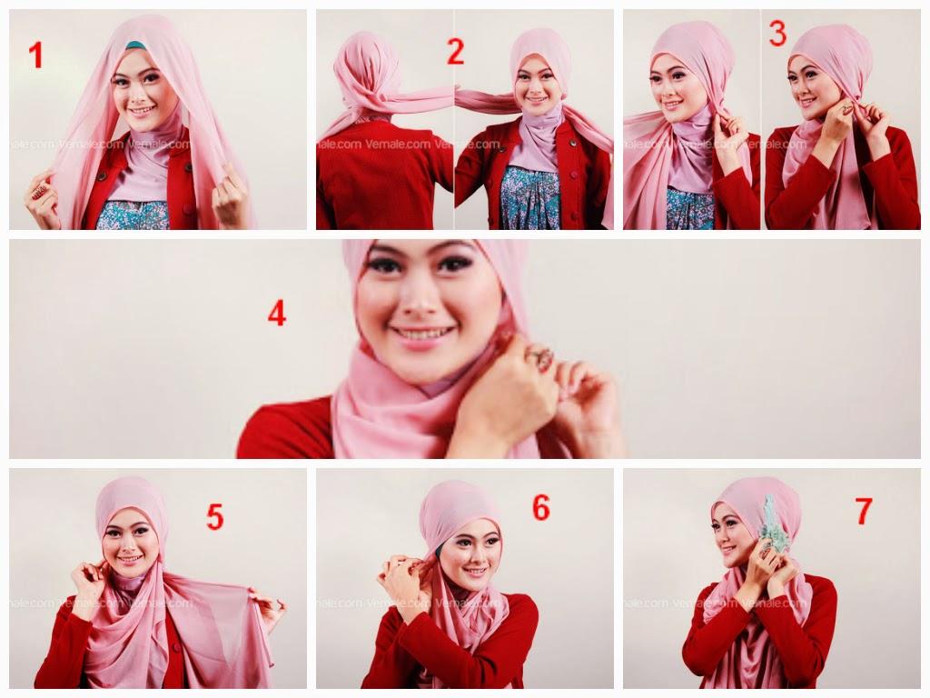 Tutorial Hijab Pashmina Wajah Bulat Zakiya Hijab