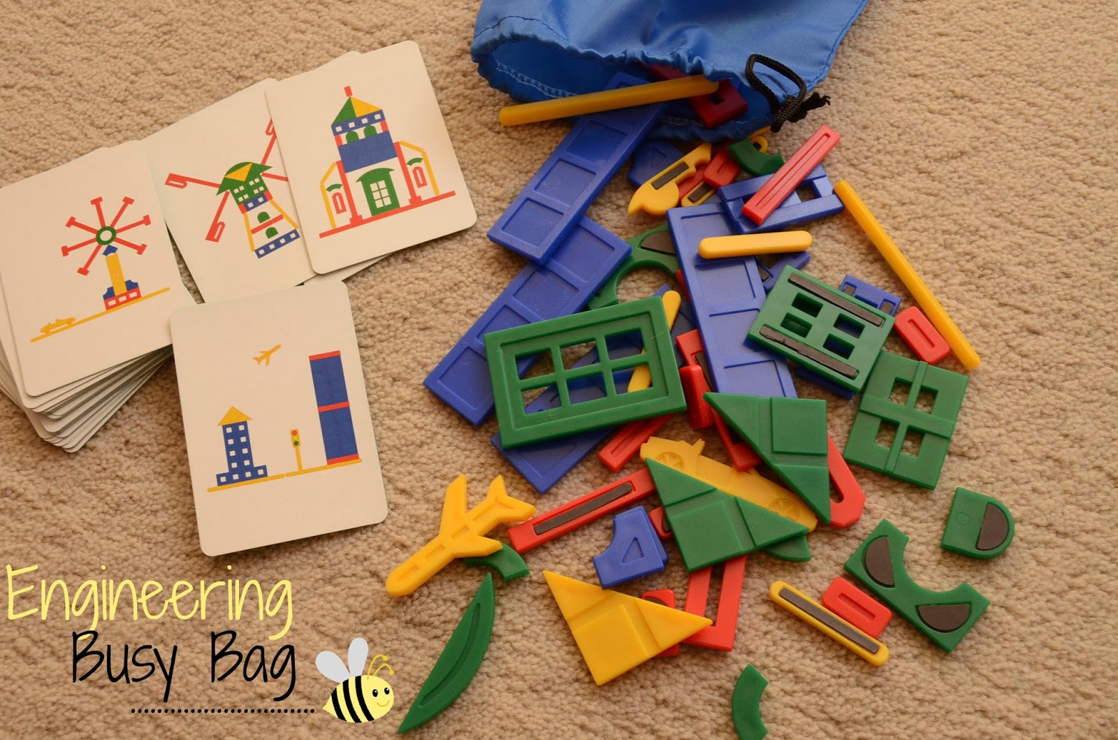 The Practical Mom: Our Engineering Busy Bag: Magnetic Building Edition Play Board  (Practical Mondays #23)