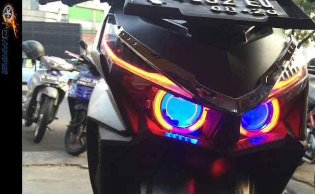 modifikasi lampu vario 150