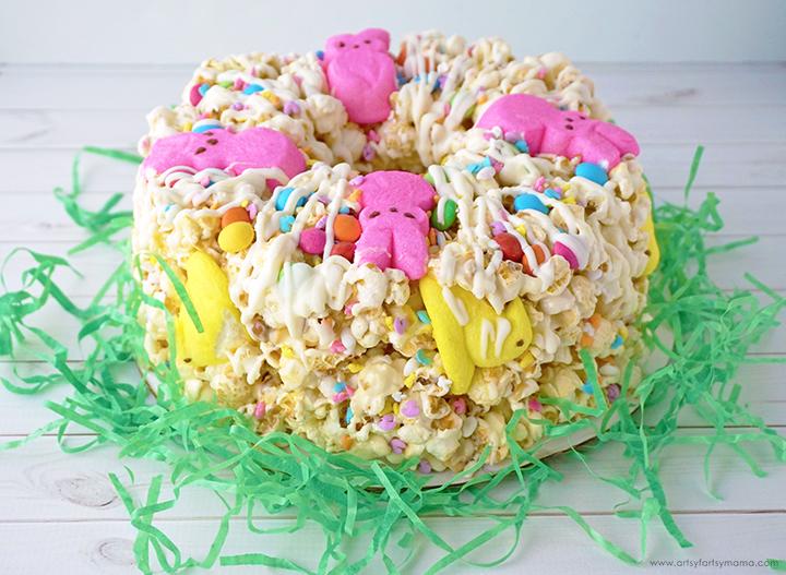 Easter Popcorn Cake Gift Idea
