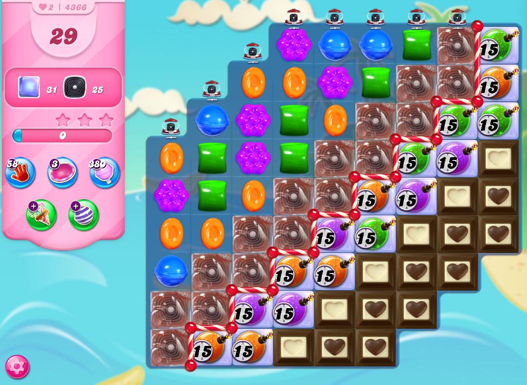 Candy Crush Saga level 4366