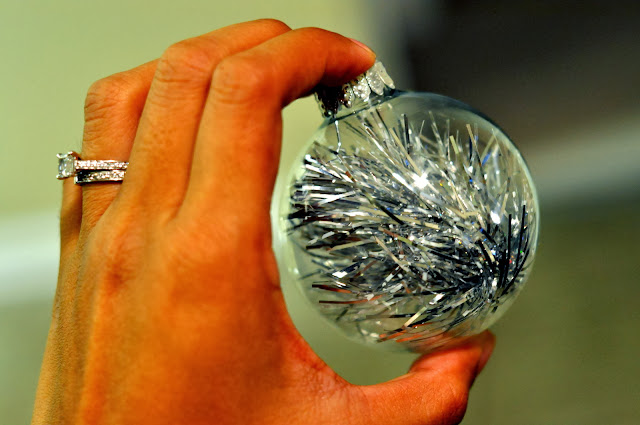 DIY Tinsel Christmas Ornaments | Taste As You Go