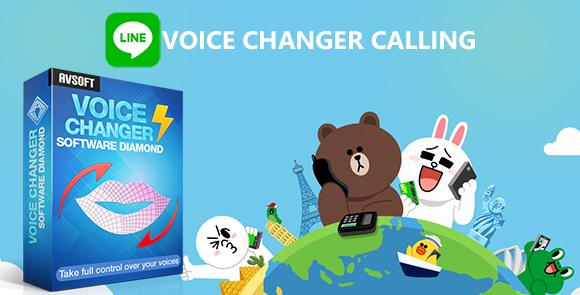 LINE voice changer calling