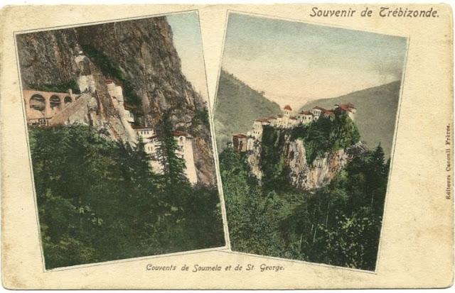 Οι Μονές Παναγίας Σουμελά και Αγ. Γεωργίου Περιστερεώτα. Τη φωτογραφία παραχώρησε στο ΑΠΕ-ΜΠΕ ο κ. Στέργιος Θεοδωρίδης.