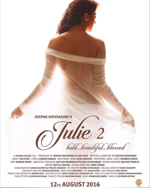 Julie 2 First Poster Out - Raai Laxmi's BOLD Look