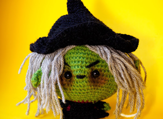 Amigurumi crochet witch