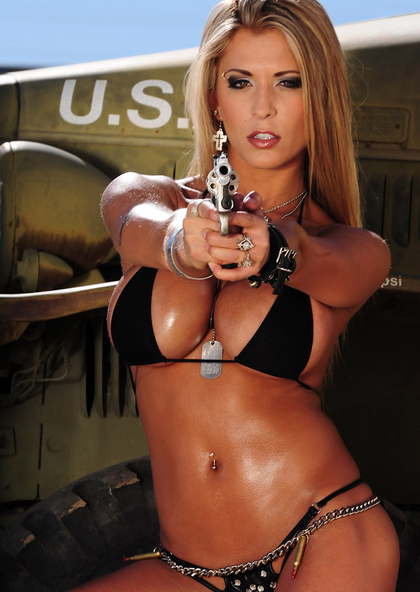 Have sexy girls with guns consider