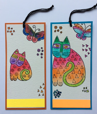 laurel burch cats stamps