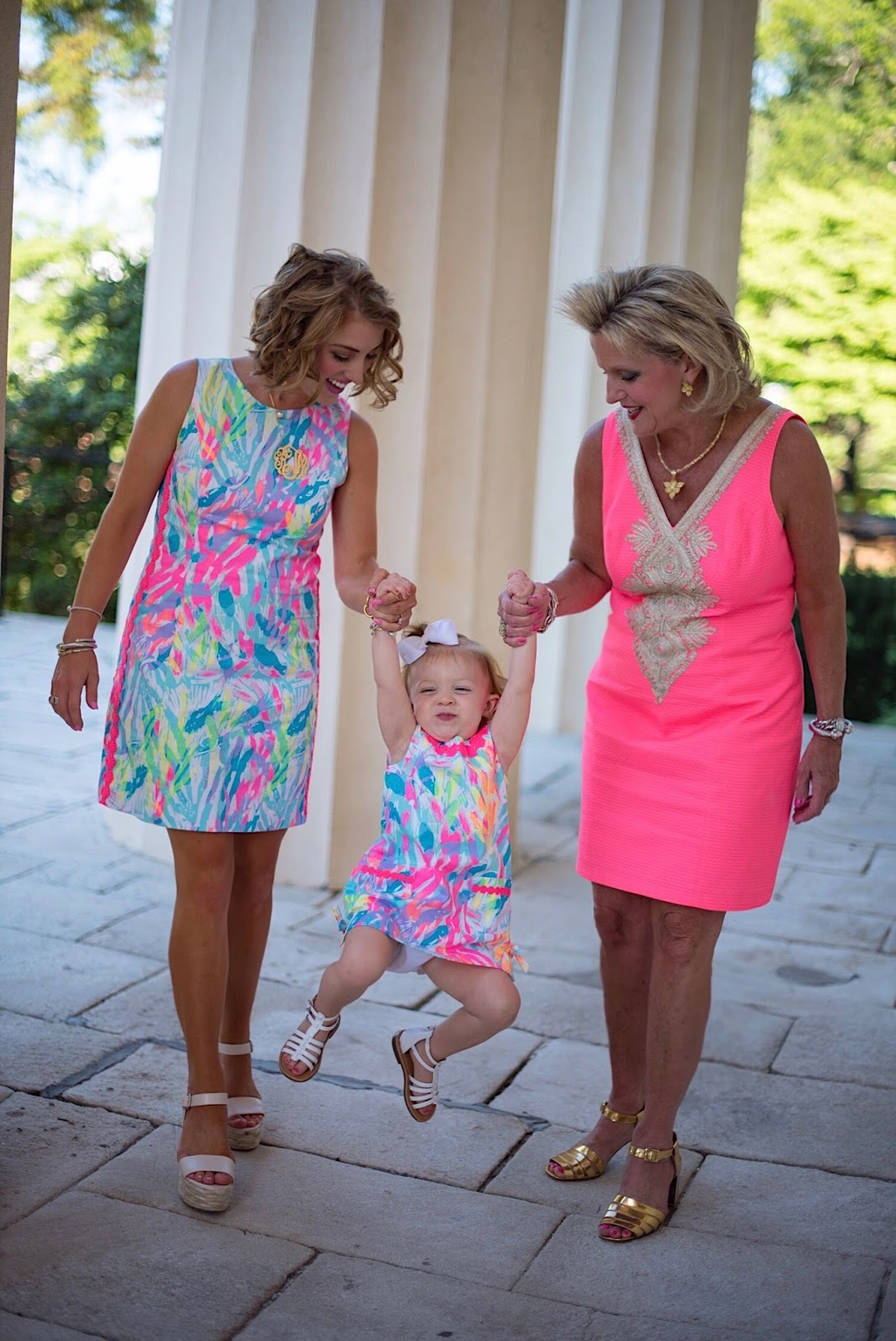 Matching in Lilly Pulitzer - Click through to see more on Something Delightful Blog!