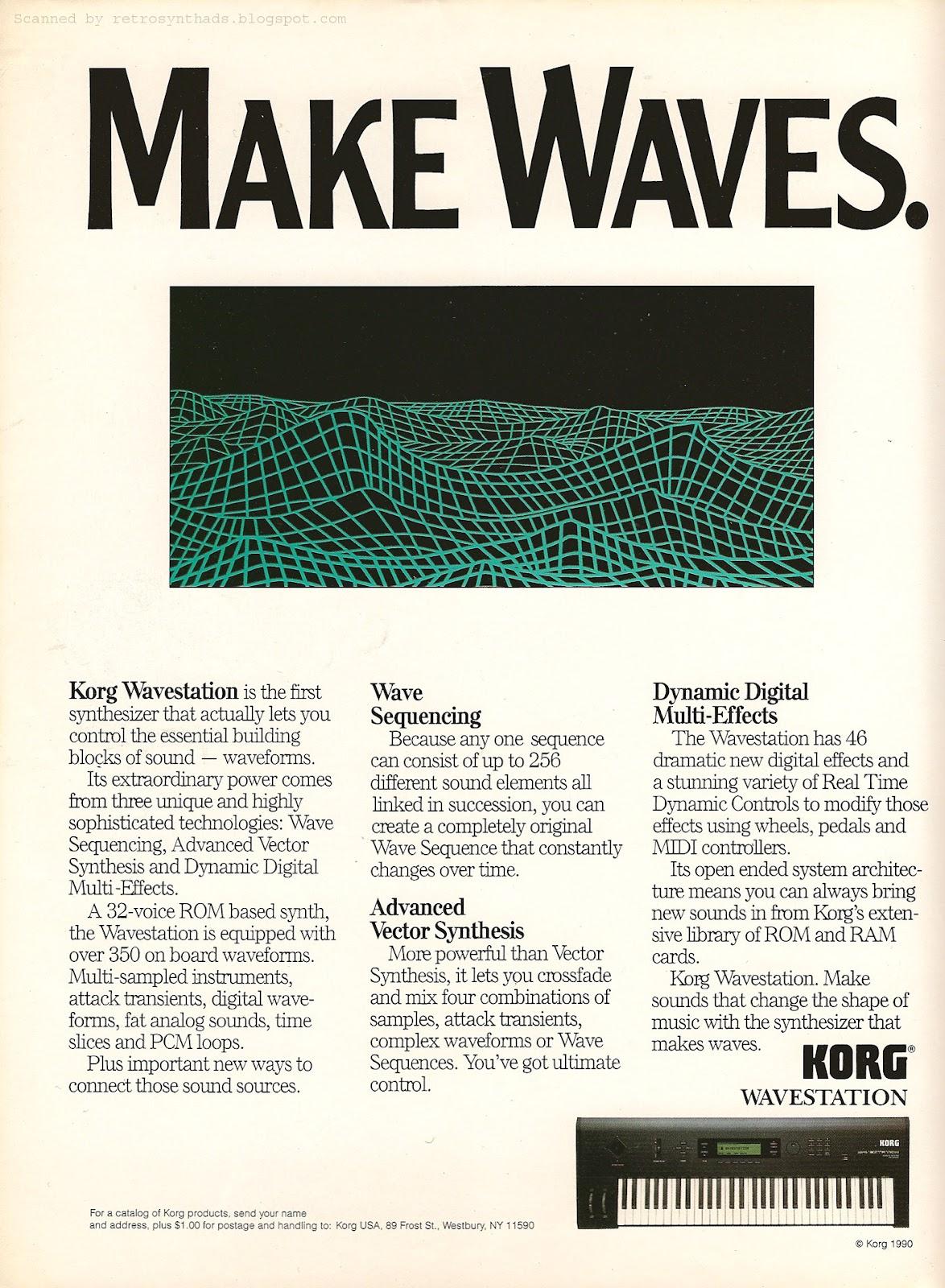 Retro Synth Ads: Korg Wavestation