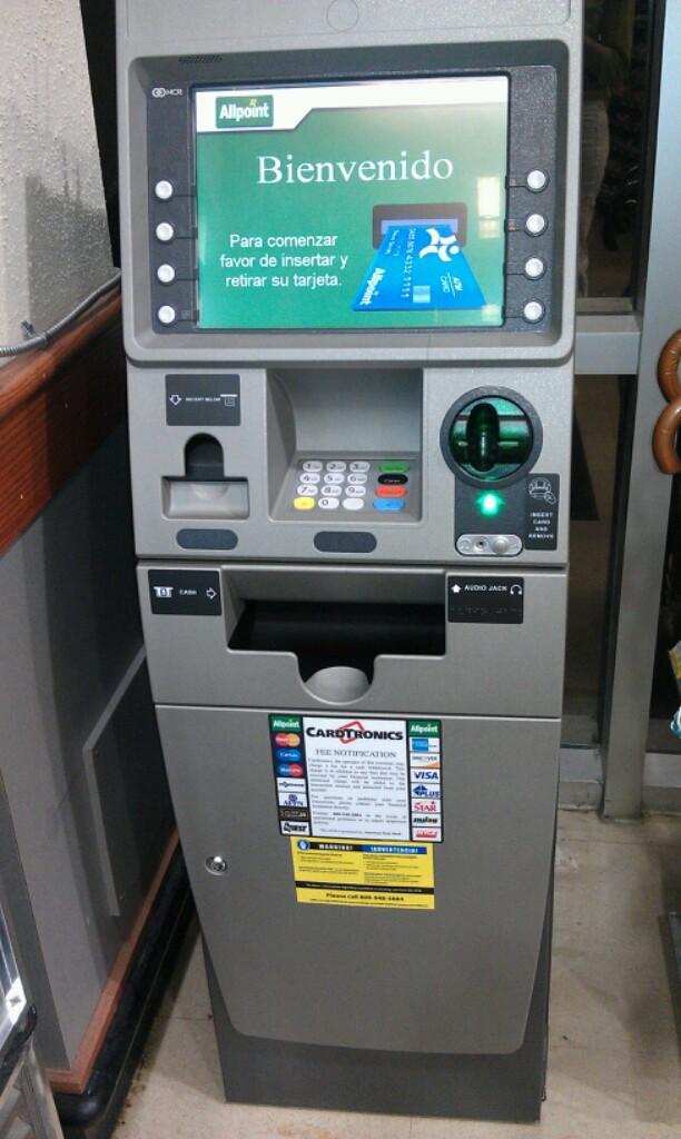 The Capital One ATM inside the Shirlington Village Harris Teeter has