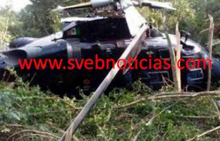 Se desploma helicóptero en Tihuatlán Veracruz