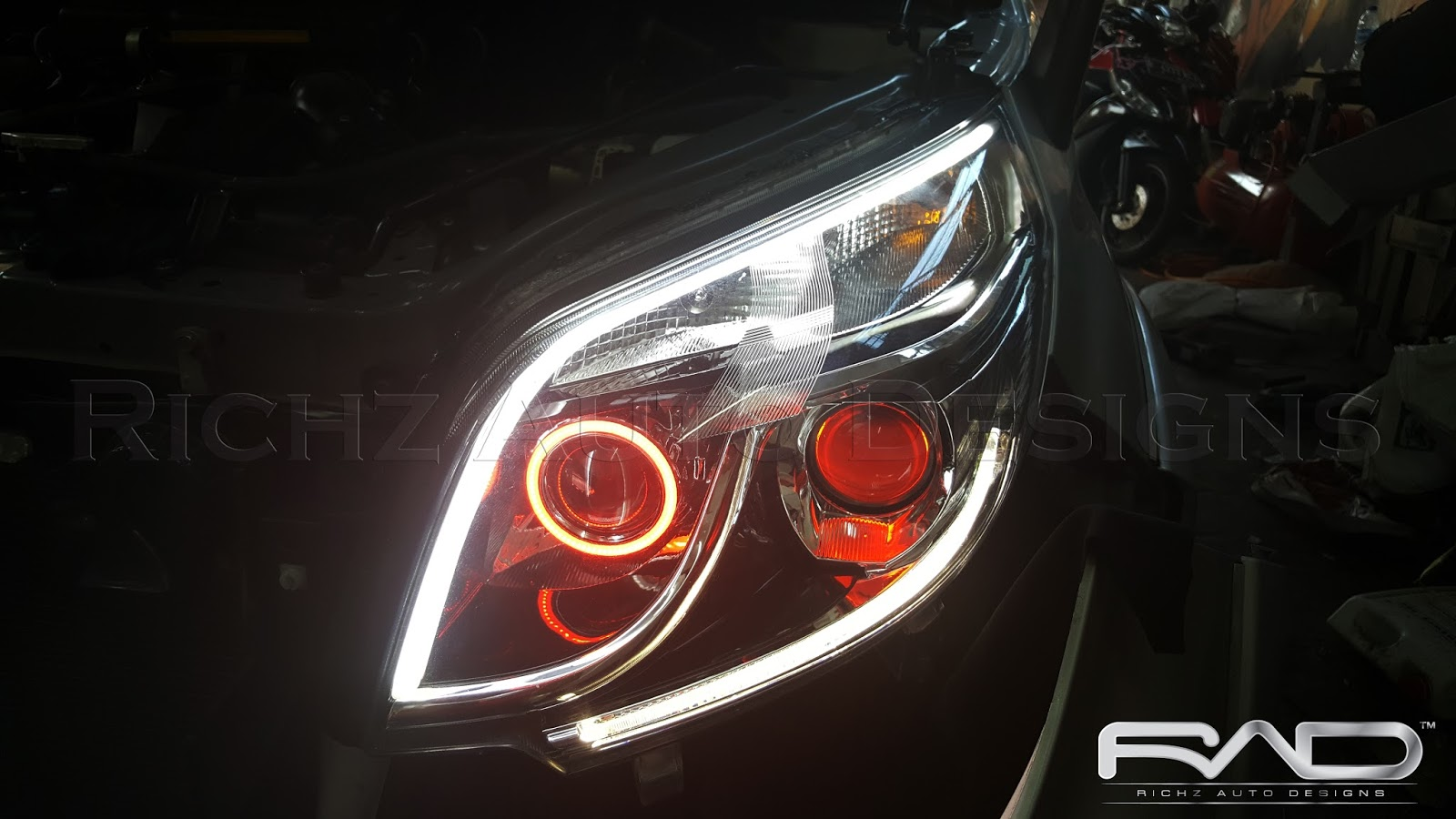 Richz Auto Designs Custom Headlamp Stoplamp