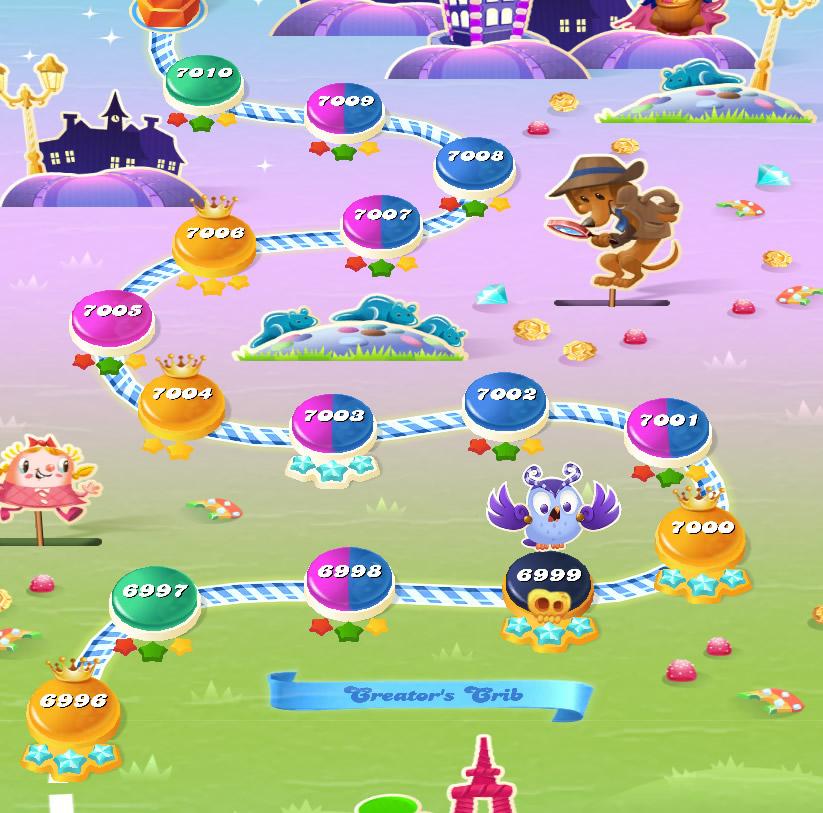 Candy Crush Saga level 6996-7010