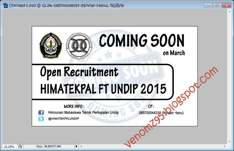 Coming Soon Oprec HIMATEKPAL UNDIP