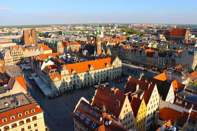 A cidade polonesa de Wroclaw, chamada de Breslávia quando pertencia a Alemanha