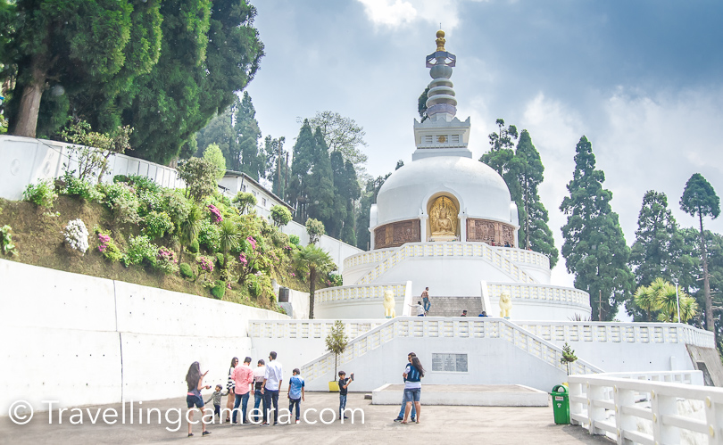 Japanese Peace Pagoda is a beautiful place to spend some time. One needs to walk a bit to reach main stupa from taxi stand. I recommend to visit this place and not because of the stupa , but more because of the beauty of the surroundings and the height. A smart driver in Darjeeling can be very helpful in managing your time well and skip traffic jams.